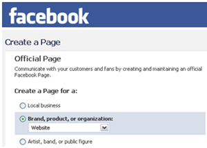 Create an Official Facebook Page
