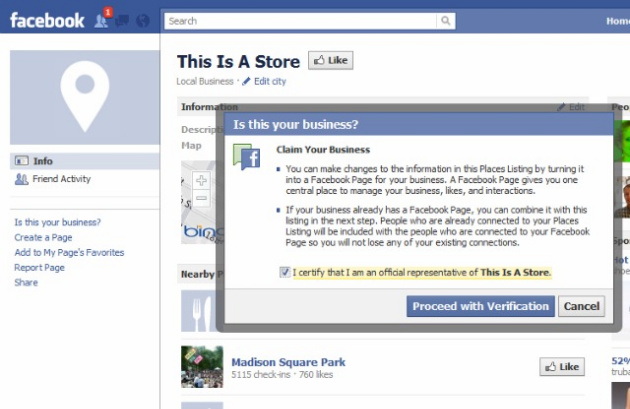 how to search for a business on facebook